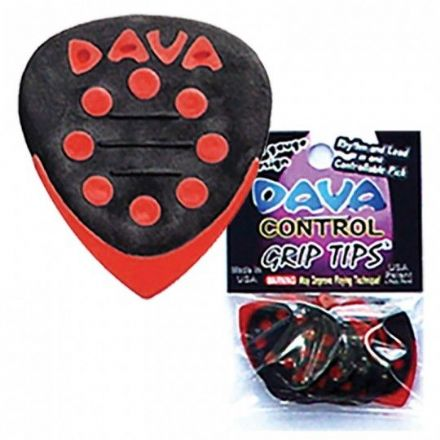 Dava Control Grip Tips Plectrum 6 Pack